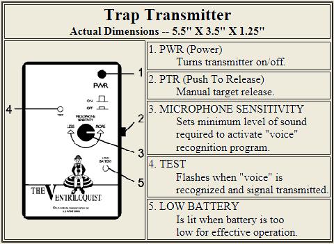 ventriloquist release systems rh howelltraps com Voice Activated Trap Release Inexpensive Bullet Traps